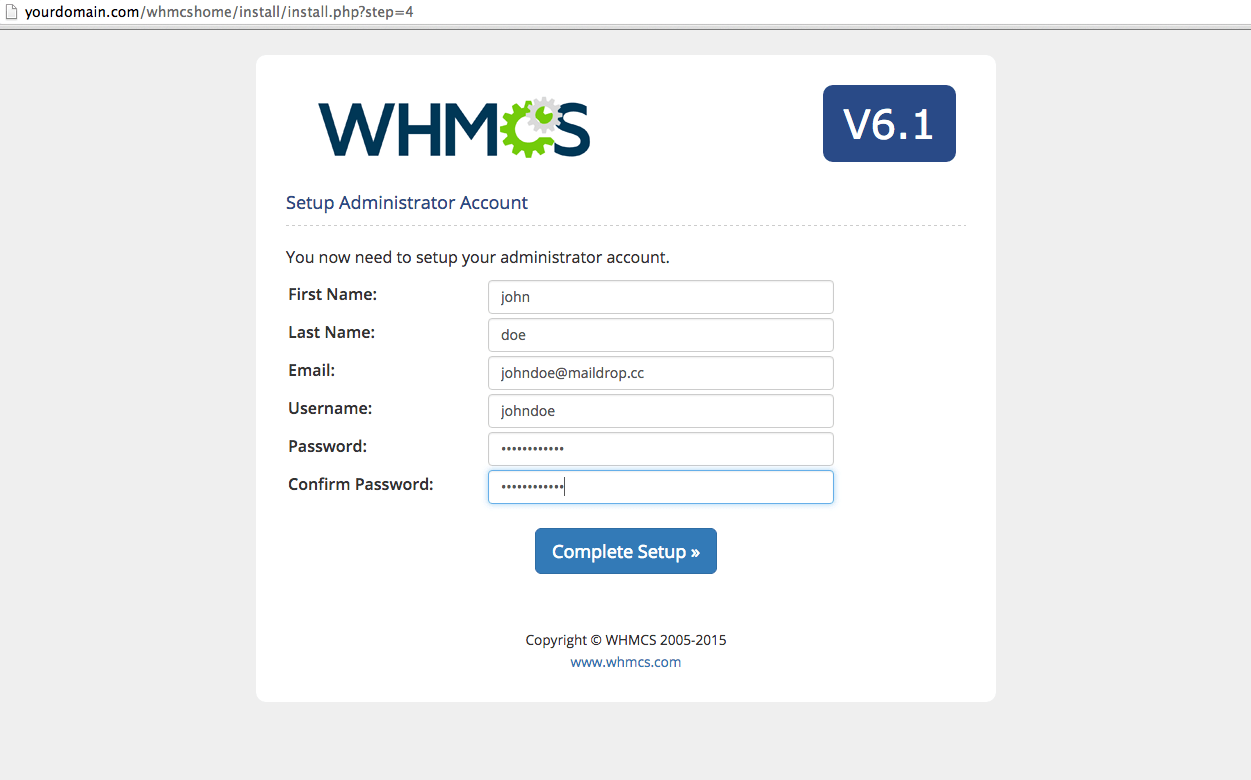 How to Install WHMCS 6 1 on a VPS or Dedicated Server